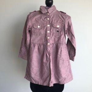 Burberry cotton long sleeve dress.  Size 3yr